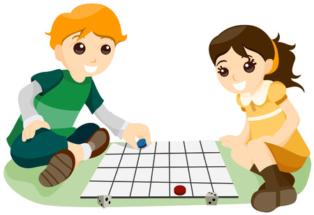 Playing Board Game with Clipping Path Vector