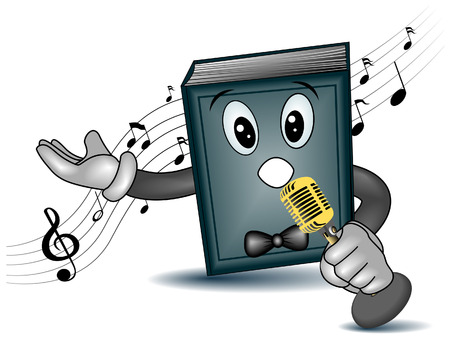 Songbook  Singing Book with Clipping Path