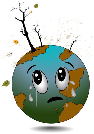 wenen: Crying Earth met Clipping Path