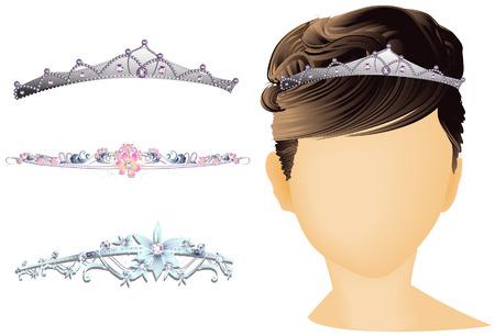 diadem: Bridal Headwear with Clipping Path