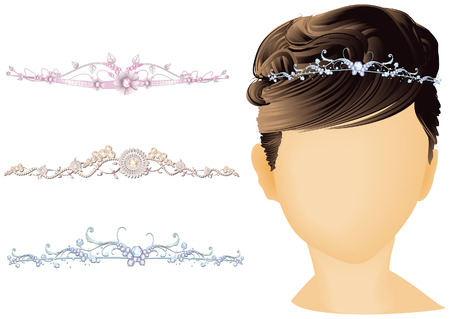 Bridal  Headwear with Clipping Path Vector