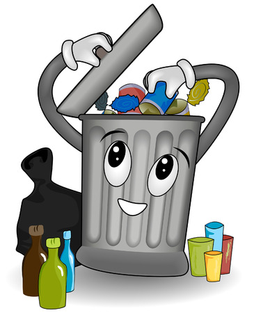 Proper Waste Segregation with Clipping Path Stock Vector - 3694308