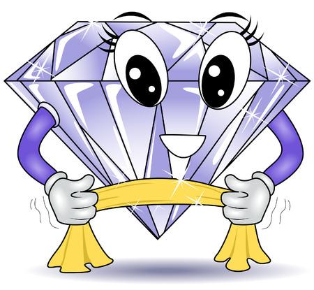 Pulido de diamantes Foto de archivo - 3698209