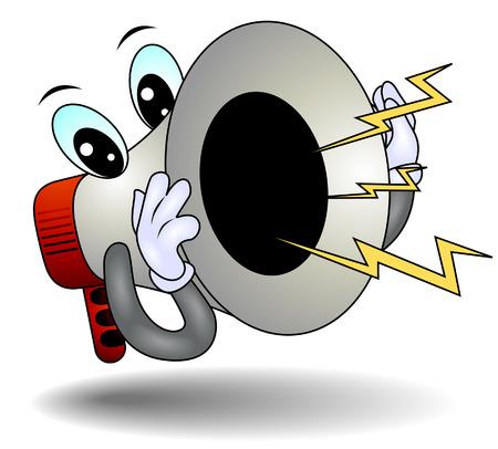 loud: Shouting Megaphone  Illustration