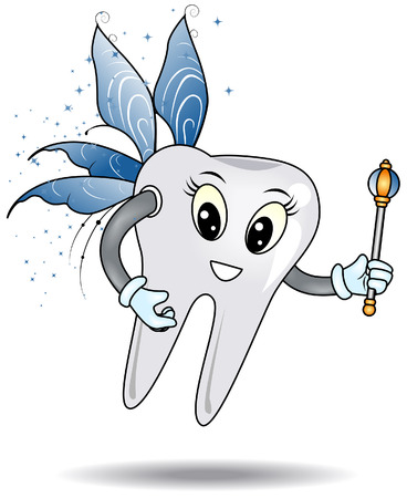 tooth fairy: Tooth Fairy with Clipping Path