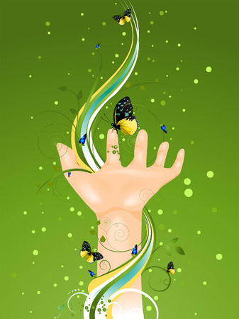 natures: NAtures Hand Illustration