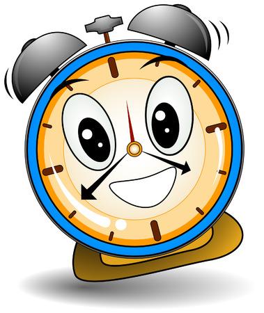 cartoon clock: Ringing Alarm Clock