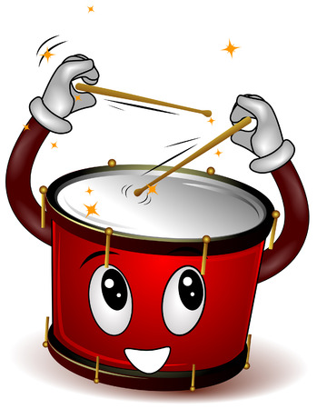 drums: Playing Drums Illustration