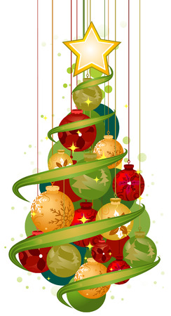 Christmas Tree (BallsBaubles) Vector