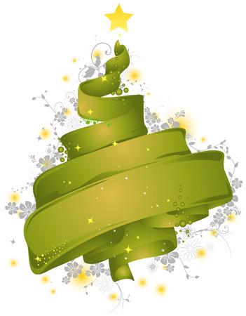 Christmas Tree (Ribbon) Illustration