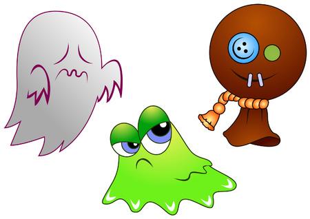 Halloween Characters Stock Vector - 3719374