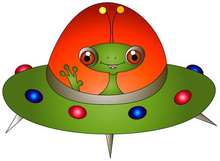 Alien Illustration Vector