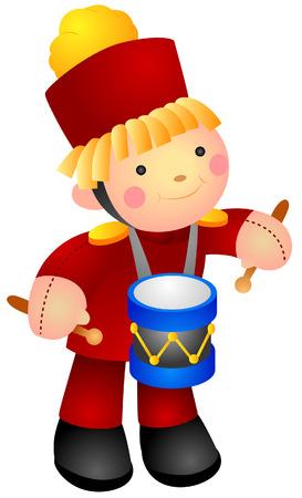 stuff toys: Drummer Doll