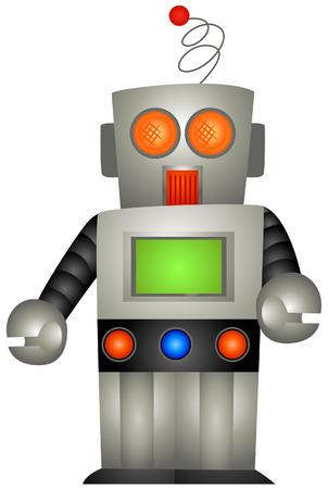 robot vector: Toy Robot  Illustration