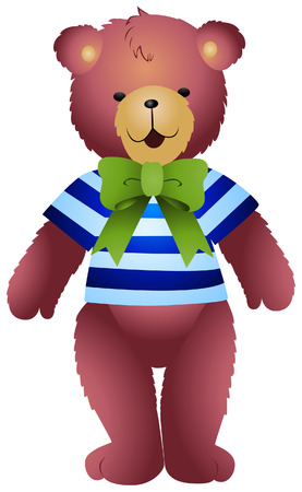 stuff toys: Boy Teddy Bear  Illustration