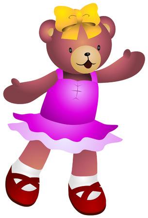 stuff toys: Girl Teddy Bear Illustration