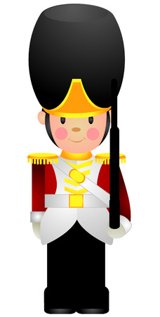 stuff toys: Toy Soldier with Clipping Path Illustration