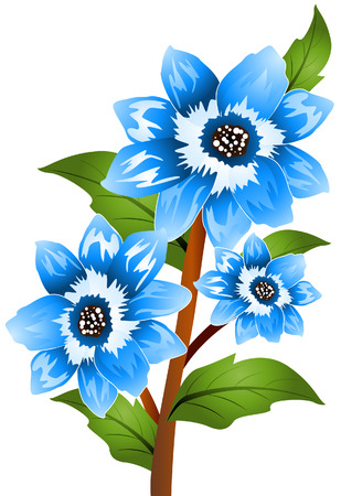 bonnet: Blue Bonnet with Clipping Path Illustration