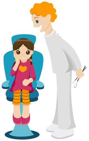 Visite chez le dentiste avec Clipping Path