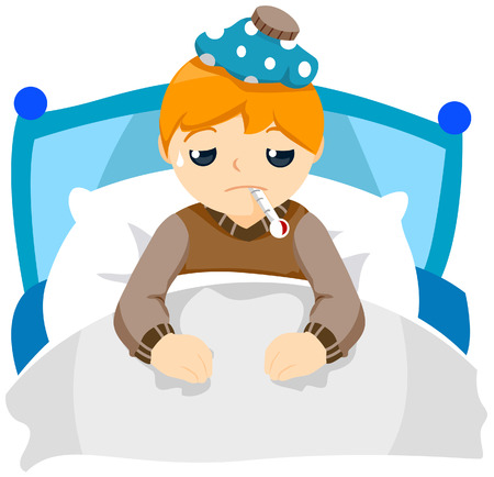 Sick Child with Clipping Path Stock Vector - 3744342