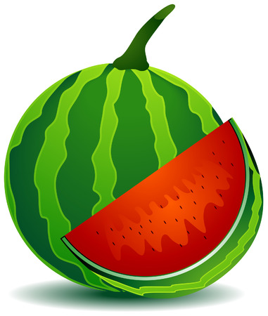 watery: Watermelons Illustration with Clipping Path Illustration