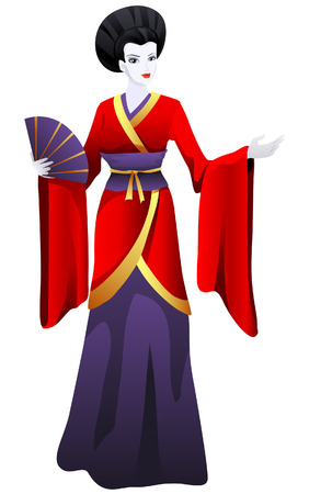 Japanese Costume with Clipping Path Vector