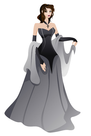 Gothic Costume with Clipping Path Vector