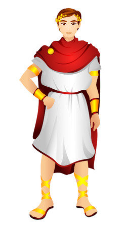 Greek Costume with Clipping Path
