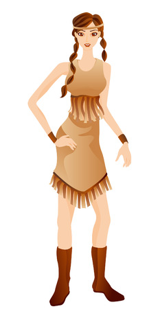 Indian Costume with Clipping Path Vector