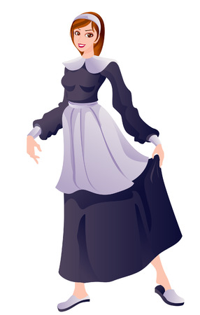 Pilgrim Costume with Clipping Path