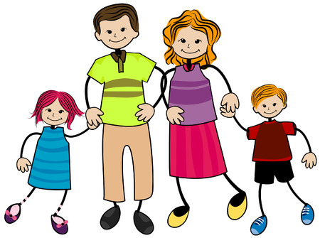 My Family with Clipping Path Stock Vector - 3826588