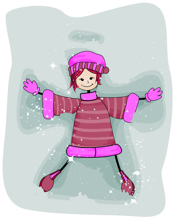 Snow Angel with Clipping Path Vector