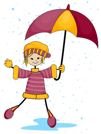 Rainy Day with Clipping Path Vector