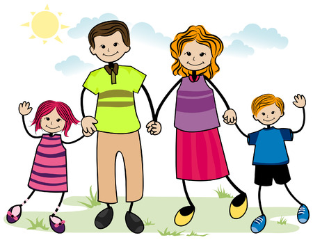 My Family with Clipping Path Vector