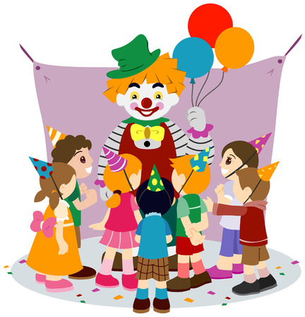 Childrens Party with Clipping Path Stock Vector - 3890854