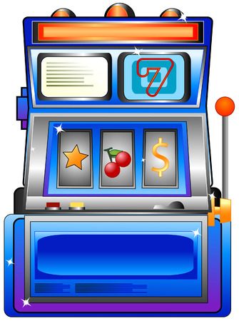 Slot Machine with Clipping Path Vector