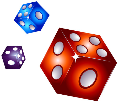 Dice Illustration with Clipping Path Vector
