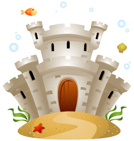 Underwater Castle with Clipping Path Stock Vector - 3928203
