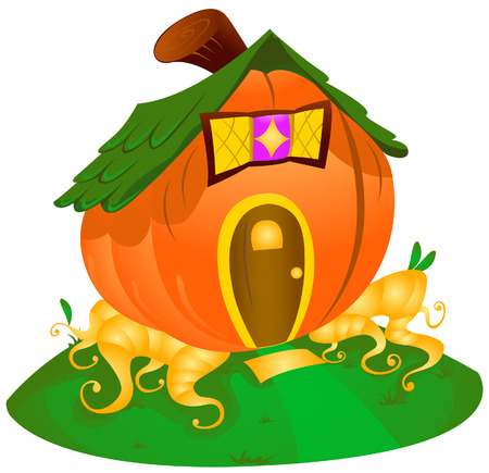 Pumpkin House with Clipping Path Stock Vector - 3928200