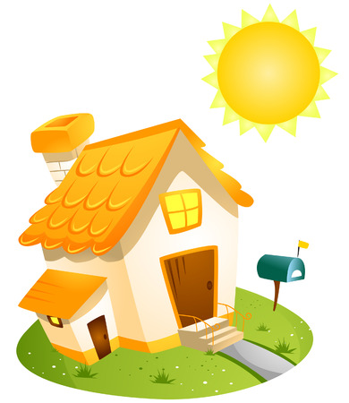 Summer House with Clipping Path Stock Vector - 3928221