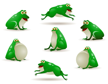 croaking: Frogs Illustration with Clipping Path Illustration
