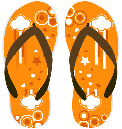 Flip Flops Design with Clipping Path Illustration