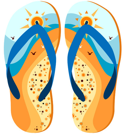 flip flops: Flip Flops Design with Clipping Path Illustration