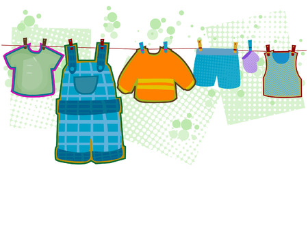 Baby Boy Clothes with Clipping Path Stock Vector - 3928238