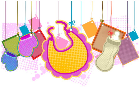 Baby Items with Clipping Path Stock Vector - 3928255