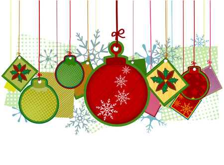 Christmas Decors with Clipping Path Illustration