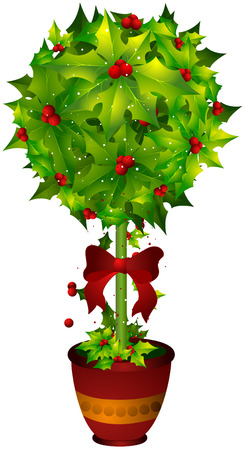 Poinsettia Illustration with Clipping Path Vector