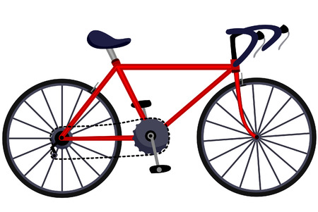 Bicycle Illustration with Clipping Path