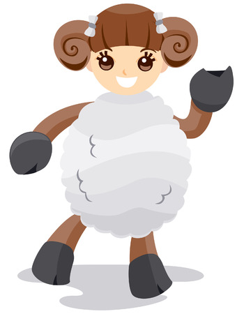 Aries Costume with Clipping Path Vector