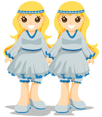Gemini Costume with Clipping Path Vector